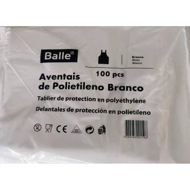 Avental branco em polietileno pack 100 und