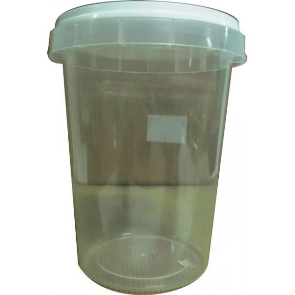 Frasco/ pote de plástico de 1 kg com fecho inviolavel