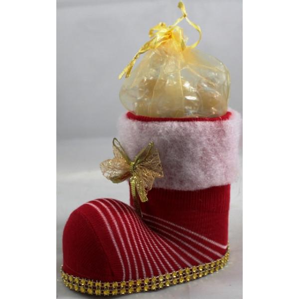 Bota Natal com Rebuçados de Mel