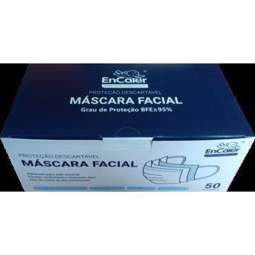 Máscara descartavel - caixa de 50 unidades