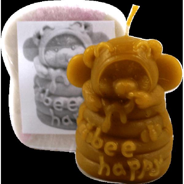 Molde para fazer velas e sabão - Urso e mel