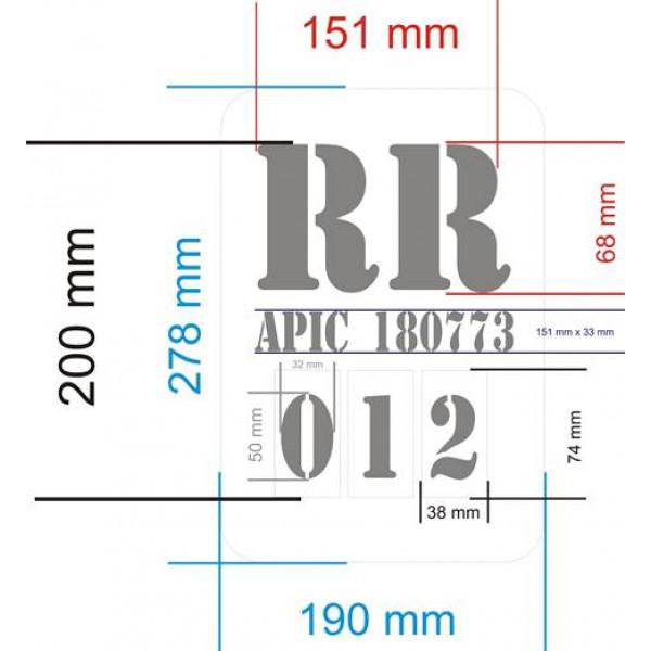 Placa para marcar colmeias (com numeração de 1 até 500)