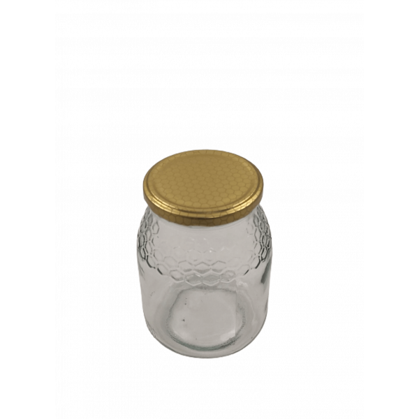 Caixa 12 frascos 1 Kg favo com tampa alvéolo