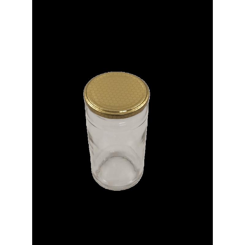 Caixa 12 frascos 1 Kg liso com tampa alvéolo