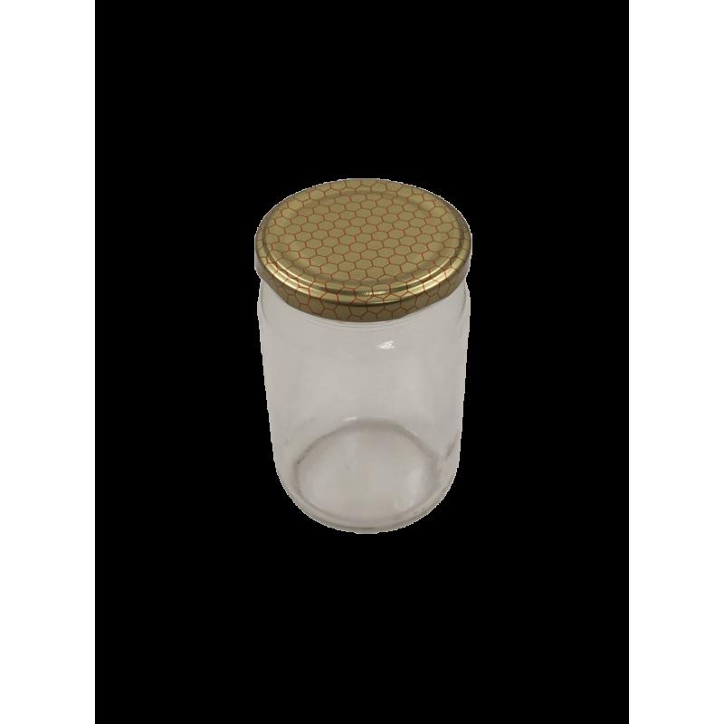 Caixa 12 frascos 500 gr liso com tampa alvéolo