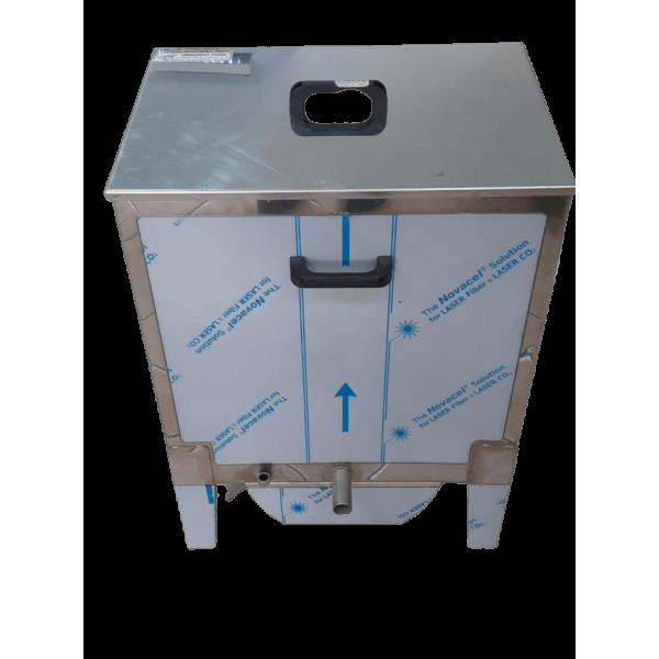 Caldeira de derreter quadrada em aço/inox 410x600x620 mm