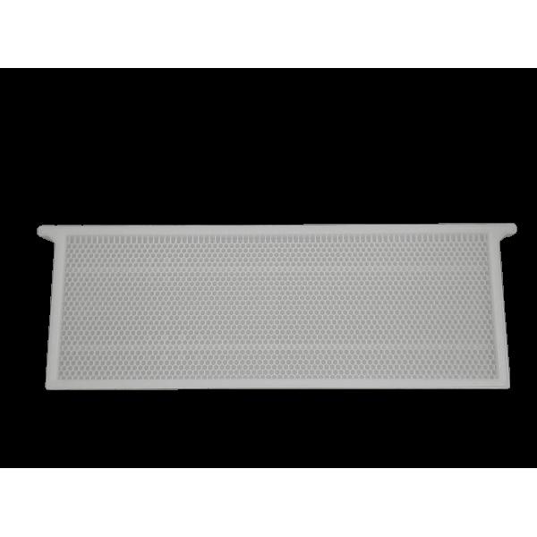 Quadro plástico 1/2 alça langstroth branco