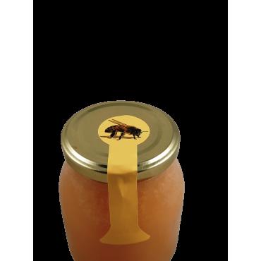 Rolo de etiquetas com abelha pra selar frascos