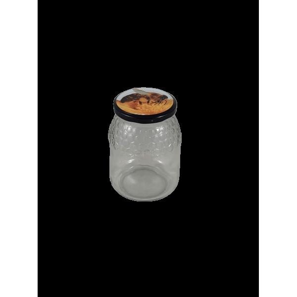Frasco de 1 kg modelo favo c/tampa com abelha em palete de 1016 frascos (0.28 + IVA por frasco)