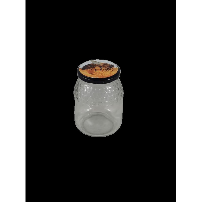 Caixa 12 frascos 1 Kg favo com tampa abelha