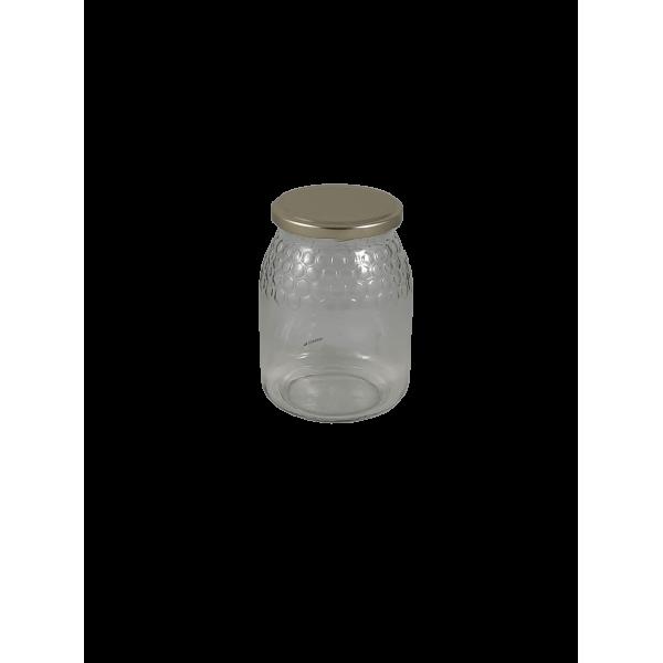Caixa 12 frascos 1 kg favo c/tampa dourada