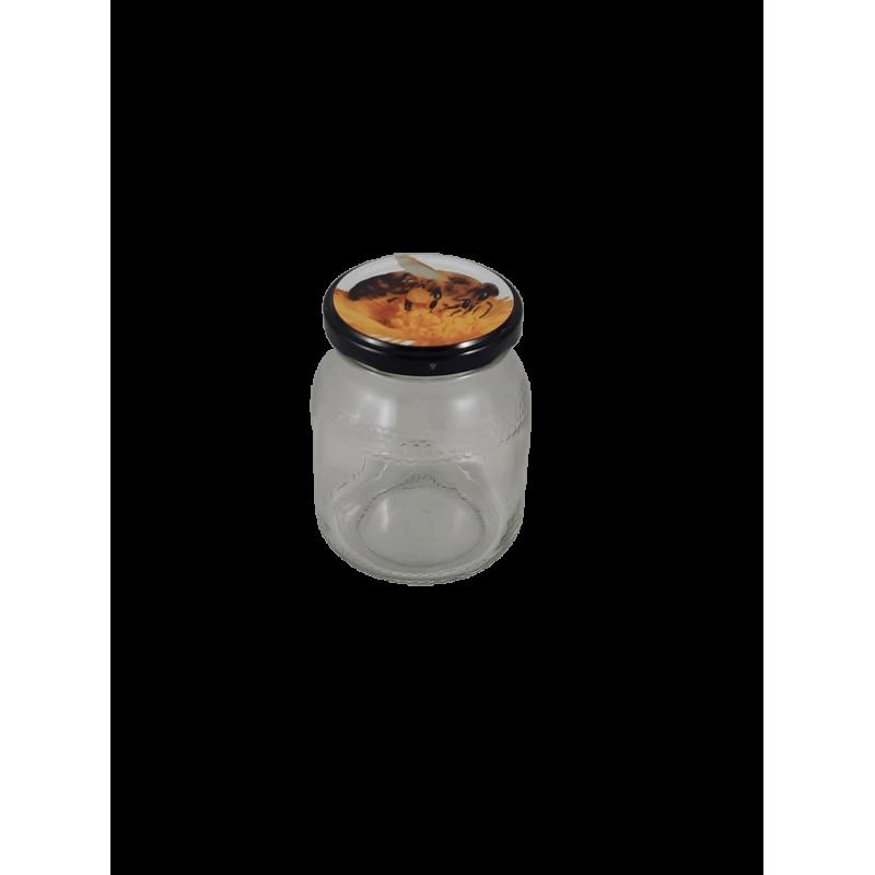 Frasco de 500 gr favo com tampa com abelha em palete de 1820 frascos (0.28 + IVA por frasco)