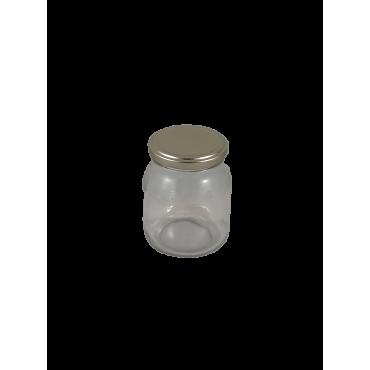 Caixa 12 frascos 500 gr favo com tampa dourada