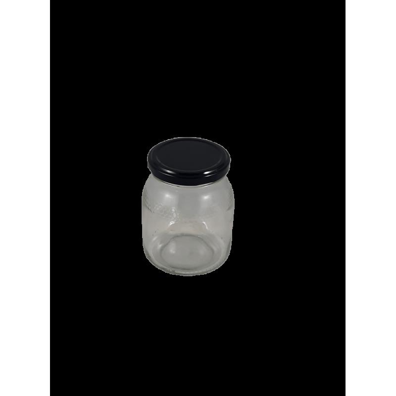 Caixa 12 frascos 500 Gr favo com tampa preta