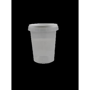 Frasco/ pote de plástico de 1/2 kg com fecho inviolavel