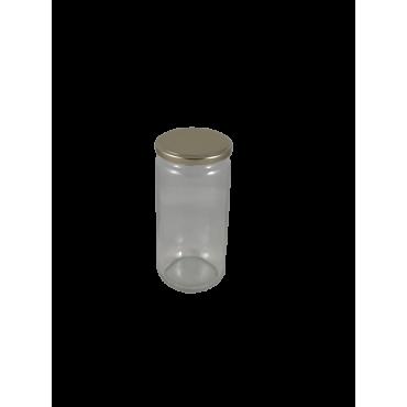 Caixa 12 frascos 1 kg liso com tampa dourada