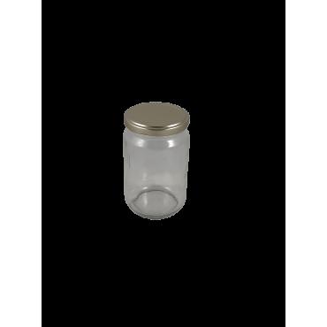 Caixa 12 frascos 500 gr liso com tampa dourada