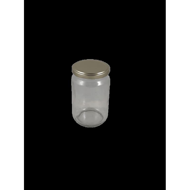 Frasco de 500 gr liso com tampa dourada em palete de 1920 frascos (0.21 € + IVA por frasco)