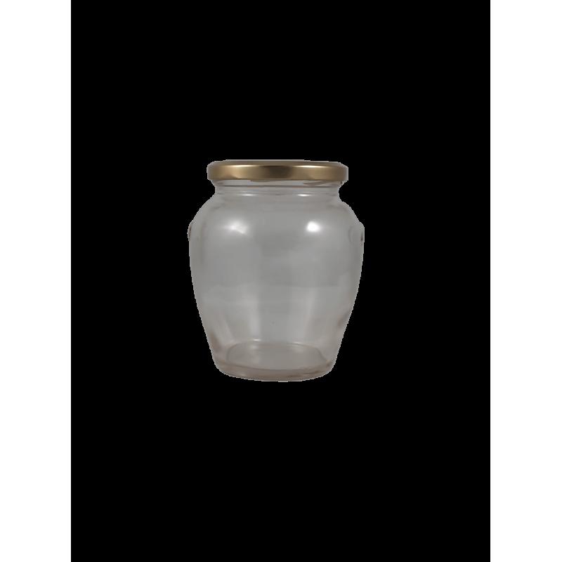 Caixa 6 frascos 1 kg Orcio com tampa dourada