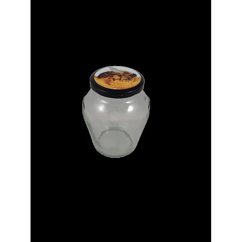 Caixa 12 frascos 500 gr Orcio com tampa Abelha