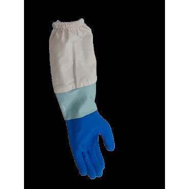 Luva de nitrilo azul