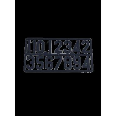 Placa de números para marcar