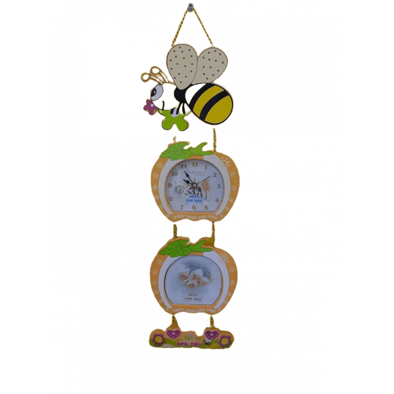 Relógio e porta retratos para pendurar Abelha