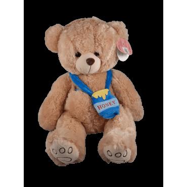 Peluche urso grande com bolso mel