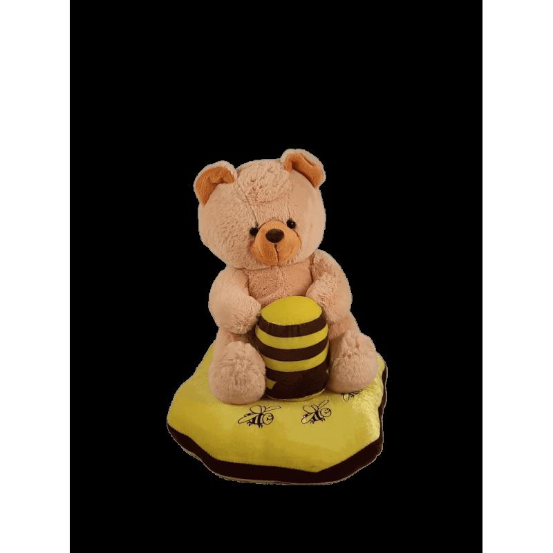 Peluche Urso com almofada Médio