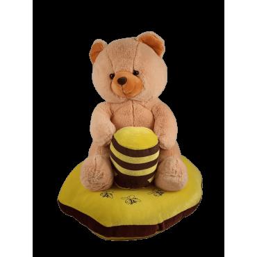 Peluche urso com almofada grande