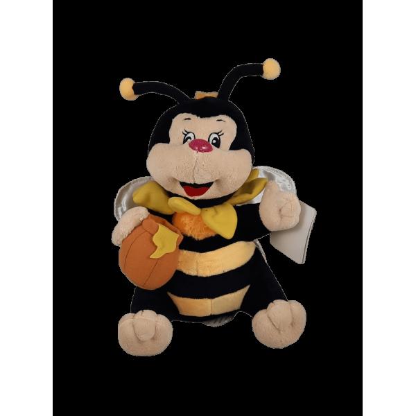 Peluche abelha pequeno com pote mel