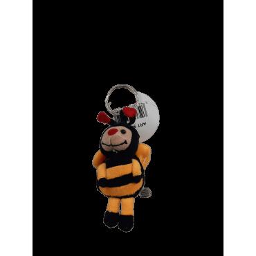 Porta-chaves peluche abelha