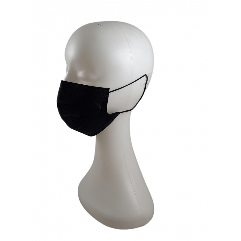 Máscara Descartável preta caixa de 50 unidades